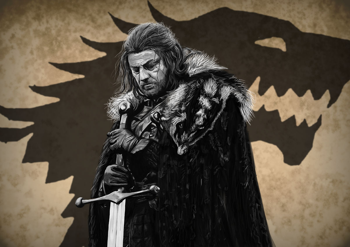 Featured Artist - Adam Holmes - Eddard Stark Portrait