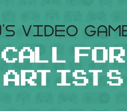 90's Video Games Banner Call For Artists